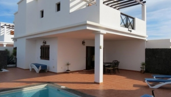 An impeccable two storey detached house situated in Marina Rubicon, Playa Blanca