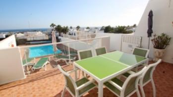 2 Bedroom 2 bathroom villa with sea views in Puerto del Carmen