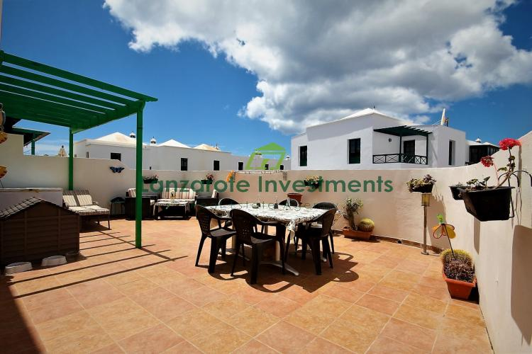 Lovely 4 Bedroom Duplex With Spacious Terrace For Sale in Costa Teguise