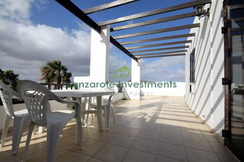 2 bedroom apartment with generous terrace for sale in Costa Teguise