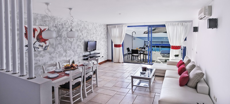 Front line villa with amazing sea views for sale in Puerto Calero with 3 beds, 3 baths and private pool
